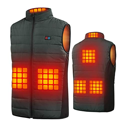 Heated Vest for Men Women, USB Heated Vest with 2 Controls(No Battery Pack)