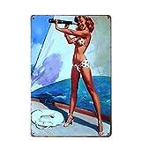 Forry Beach Bikini Girl Metall Poster Retro Blechschilder