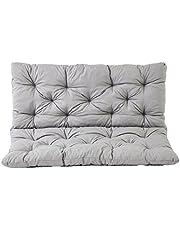 Ambientehome 90266 - Cuscino per panca a 2 posti e per Panca Hanko, grigio chiaro, approx. 120 x 98 x 8 cm