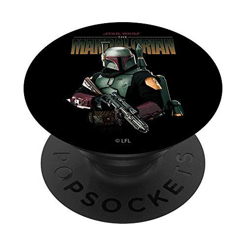 Star Wars: The Mandalorian Boba Fett Logo Portrait R15 PopSockets PopGrip: Agarre intercambiable para Teléfonos y Tabletas