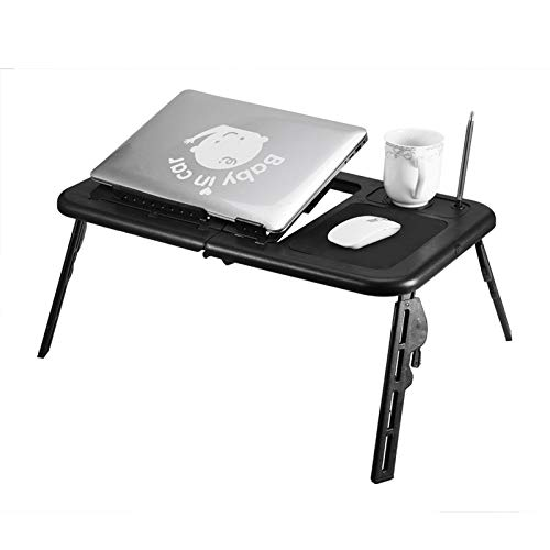 Cerlingwee Mesa de Cama para computadora portátil portátil Soporte para computadora portátil Soporte de Lectura Mesa de computadora Plegable para Leer, Ver películas en la Cama/sofá Computadora