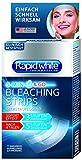 RAPID WHITE White Express Bleaching Strips, 8 Bleaching Sachets, für weißere Zähne in nur 4 Tagen, sichtbare Zahnaufhellung für Zuhause, ohne Wasserstoffperoxid