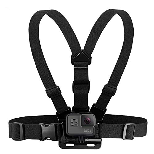Houdian Brustgurt Halterung Brusthalterung Chest Mount Chesty Kompatibel mit GoPro Hero und Action-Kameras - Voll Verstellbarer Brustgurt