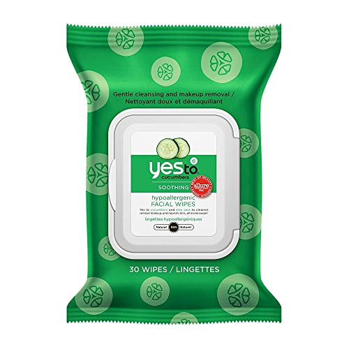 Yes To Sì per Cetrioli lenitivo ipoallergenico viso Salviette 30 bis (Pack of 8)