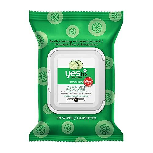 Yes To Oui pour Concombres Apaisant Hypoallergénique lingettes pour le visage 30 ea (paquet de 11)