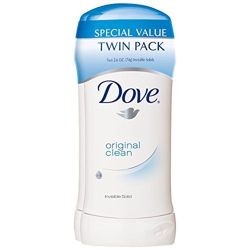 Dove Antiperspirant Deodorant, Original Clean 2.6 Ounce, Twin Pack