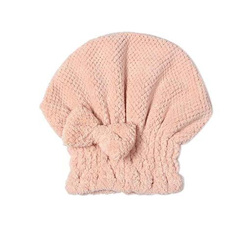 SHYPT Sombrero de Secado de Cabello Femenino Lindo Coreano Absorbente de Agua de Secado rápido Red de Engrosamiento de Cabello Largo Red de baño Impermeable pañuelo en la Cabeza para Adultos