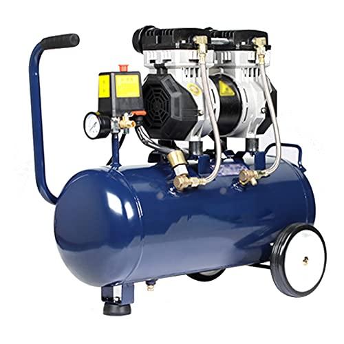 WUK Compresor de Aire sin Aceite Bomba de Aire portátil 30L Silencioso (65dB) 550/750/980 W Compresor de Aire doméstico Pintura en Aerosol Inflado de neumáticos Herramientas neumáticas eléctricas