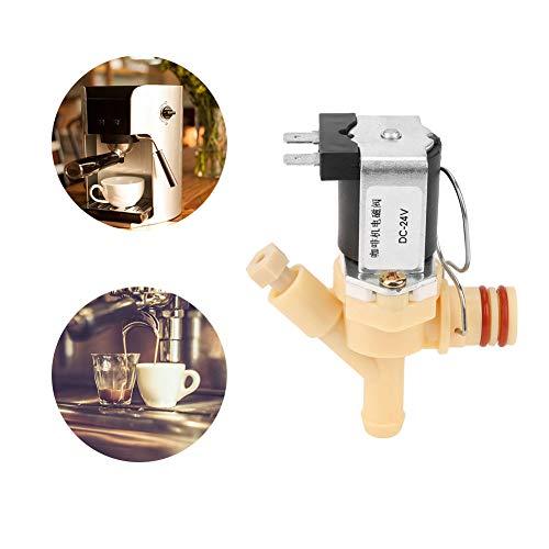 Jadpes Dc24v Kaffeemaschinen-Magnetventil, DC24V Normalerweise geschlossenes elektrisches Magnetventil Wasserventil für Kaffeemaschine
