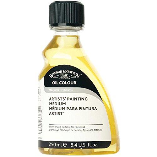 Winsor & Newton 3039734 Olio per artisti di olio di lino e sostituto della trementina, migliora la fluidità e la trasparenza, rallenta l'asciugatura - flacone da 250 ml