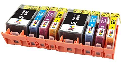 TONER EXPERTE 8 XL Cartuchos de Tinta compatibles con HP 934 934XL 935 935XL para Impresoras HP Officejet Pro 6230 6830 6820 6812 6815 6835 6220   Alta Capacidad