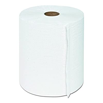 """GEN 1915 Hardwound Roll Towels, 1-Ply, White, 8"""" x 600 ft (Case of 12)"""