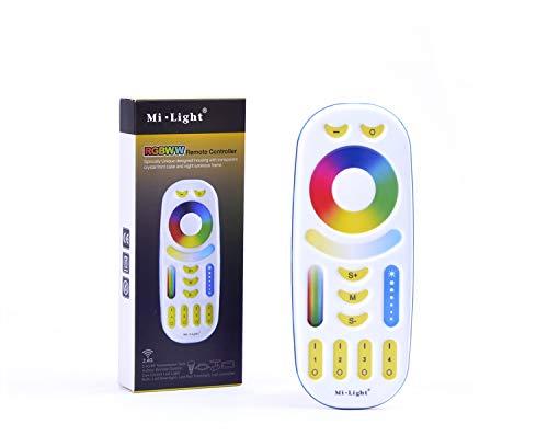KingLed - Mi-Light RGB+CCT Multicolor Wi-Fi Produkte Weiß mit Grad Kelvin Variablen (Fernbedienung 4 Zonen)