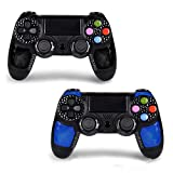 2 Pack PS4 Controller - OUBANG Wireless Remote Joystick for Playstation 4?Black elf+Sapphire ?