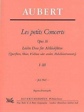 Les Petits Concerts Opus.16,1–3: leichte Duos Alt per 2Flauti