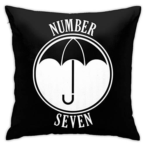 HONGYANW Umbrella Academy Number Seven Funda de almohada, impresión de doble cara, funda de almohada con cremallera oculta, hermoso patrón impreso almohada 45,7 x 45,7 cm