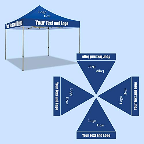BANNER BUZZ MAKE IT VISIBLE Custom Pop Up Canopy 10' X 10' Outdoor Commercial Tent Gazebo for Trade Show Conference Events (Option 9)