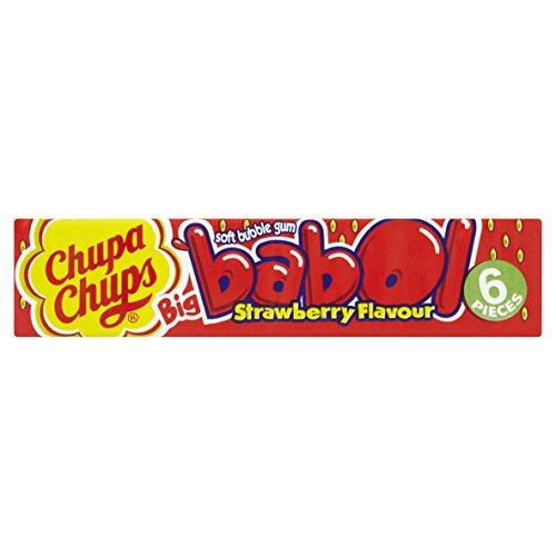 Chupa Chups Big Babol Erdbeere Kaugummi Display, 20er Pack (20 x 27,6g)