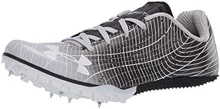 Under Armour Unisex-Adult Kick Sprint 3 Running Shoe, Black (001)/White, 6.5