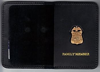FBI Family Member Mini Badge/ID Card Wallet  antique mini pin included