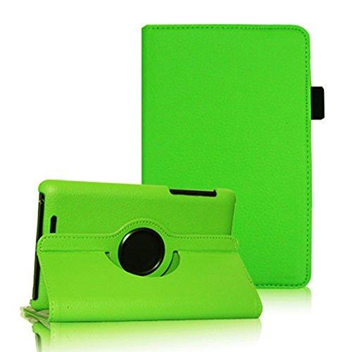 COOVY® Cover für Google ASUS Google Nexus 7 (1. Generation Model 2012) Rotation 360° Smart Hülle Tasche Etui Hülle Schutz Ständer Auto Sleep/Wake up   Farbe grün