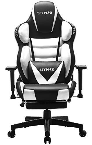 SITMOD Silla Gaming Sillas Gamer Ergonomica Silla 200kg Reclinable, Si