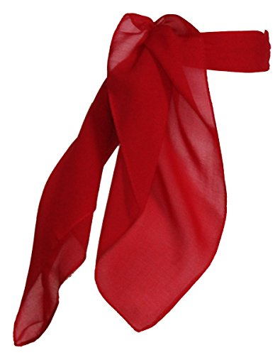 Sheer Chiffon Scarf Vintage Style Accessory for Women and Children, Red
