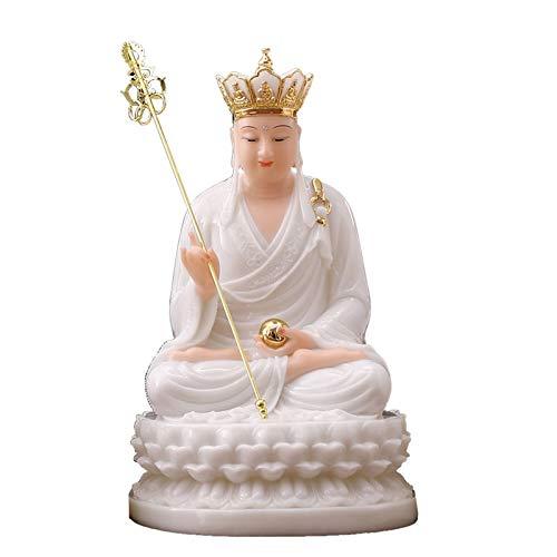 Estatuas de Feng Shui ARTÍFICA JADE TANGSENG BUDDHA Estatua Exquisita Decoración del hogar Los mejores regalos de estilo chino Gran tesoro de arte adecuado para el hotel en el hogar (blanco) Estatua d