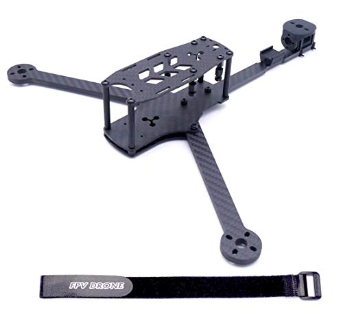 FPVDrone Tricopter LR 267/286mm 8 inch FPV Racing Drone Frame Kit 3 axis Y Type Carbon Fiber Frame kit 5mm Arm+Lipo Battery Strap