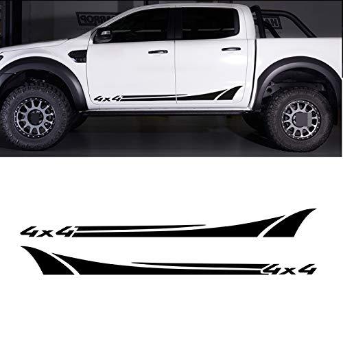 OceanAutos Autoaufkleber Für Ford Ranger Raptor, Für Nissan NAVARA, Autotür Seitenrock Vinyl 4x4 Styling...