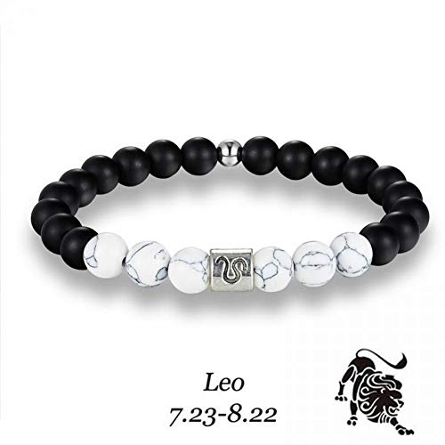 YIYYI Armband 12 Constellatie Beaded Armband Maagd Steenbok Ram Leo Kralen Armband Sieraden Mannen Vrouwen Beste Verjaardag Gift
