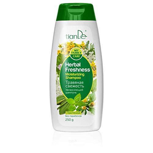 """Shampooing hydratant""""Herbal Freshness"""", tianDe 25707, 250g, La puissance du vert pétillant sur vos cheveux!"""