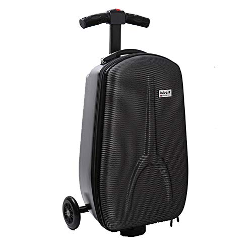 Lxmhz 20 Inch Trolley Scooter koffer Scooter, 2 in 1 Carry-on reiskoffer Rolling koffer Bagage Wheel Opvouwbare Rolling Bagage Vervoer