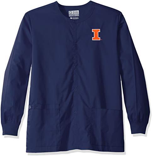 WonderWink University of Illinois Snap Front Jacket