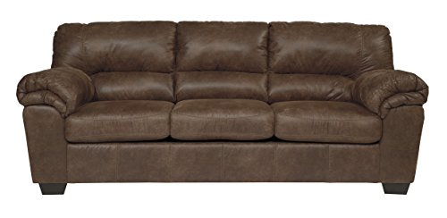 Signature Design by Ashley - Bladen Contemporary Plush Upholstered Sofa - Coffee Brown