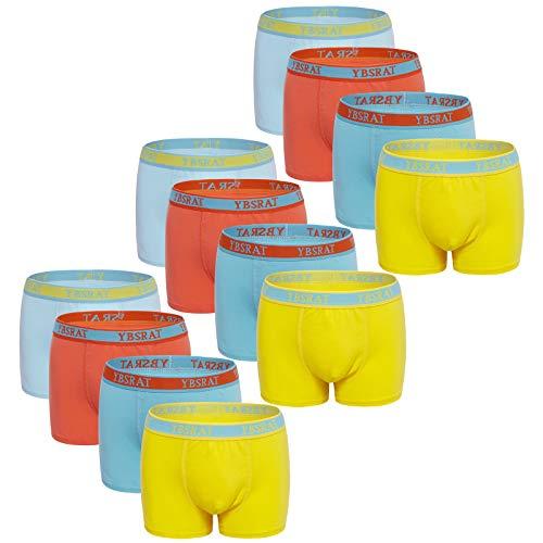 Usex Sense 12 Pack Bóxers Calzoncillos Ropa Interior Algodon para Niños 2-10 años(3-5 años,1710M)