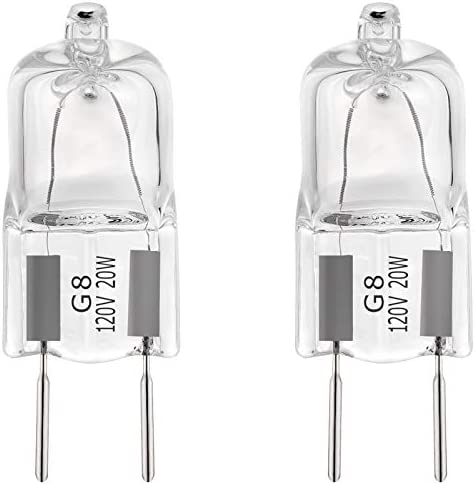 2Pack Halogen Light Bulb G8 Base for GE Microwave Oven WB25X10019 Replacesment Bulbs Fits for product image