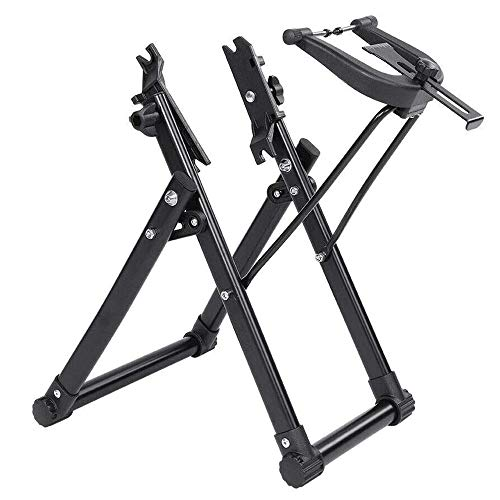 xxz Professional Bike Wheel Truing Stand, Foldable Bicycle Tire Maintenance Tool Reinforced Non-Slip Corners, for Balancing Wheels Bearing Check