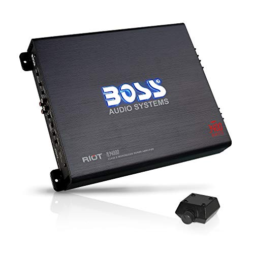 BOSS Audio Ohm Stable Car Amplifier with Remote Subwoofer Control