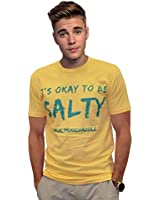 Salty Men's T-Shirt Banana Yellow Its Okay to be Salty (Small)