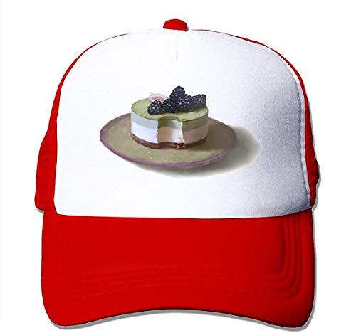 Dessert Unisex Strapback Baseball Caps Adult Mesh Rock Hats Adjustable Snapback