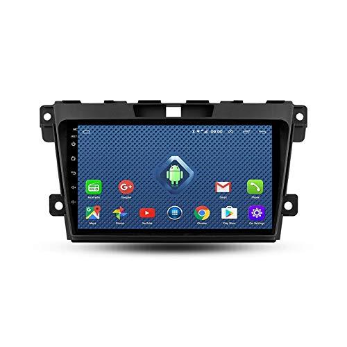 Foof Autoradio Bluetooth, 2 DIN Android Radio De Coche 9'' Pantalla Táctil WiFi Plug and Play Completo RCA Soporte Carautoplay/GPS/Dab+/OBDII para Mazda CX7 CX-7 CX 7,Quad Core,WiFi 2G+32G