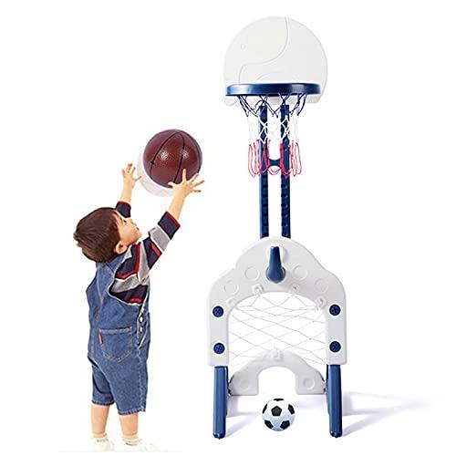 Basketball Hoop Canasta de Baloncesto Plegable, 3 en 1 Altura Ajustable 78-120cm, Canasta Baloncesto Exterior para Niños Infantil