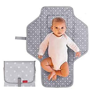 crib bedding and baby bedding portable changing pad travel kit - baby lightweight waterproof infant compact clutch foldable mat with built-in cushion easy to clean with wipes - perfect baby shower gift