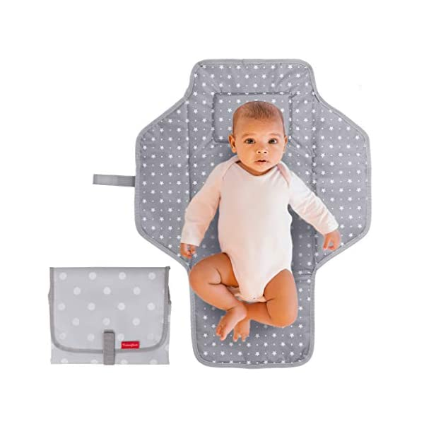 Portable Changing Pad Travel Kit – Baby Lightweight Waterproof Infant Compact...