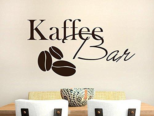 GRAZDesign Wandtattoos Küche Esszimmer Bar - Aufkleber für Küche Kaffeebohnen - Wandtattoo Küche Kaffee Bar / 57x30cm / 070 schwarz