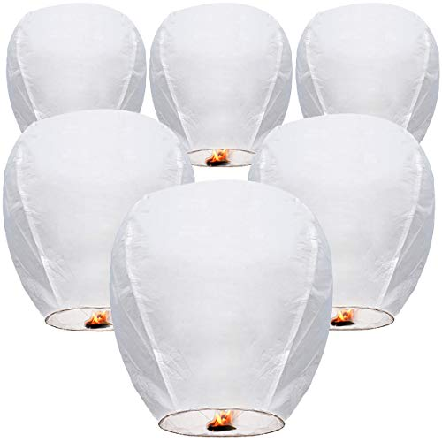 Sky Lanterns Paper Lanterns 100% Biodegradable Environmentally Friendly Lanterns for Weddings, New Years, Festivals, Memorials & More! Japanese Paper Lantern