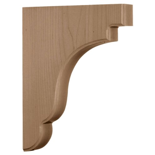 Ekena Millwork BKTW02X09X11BERW  1 3/4-Inch W by 8 1/2-Inch D by 11-Inch H Bedford Wood Bracket, Rubber Wood