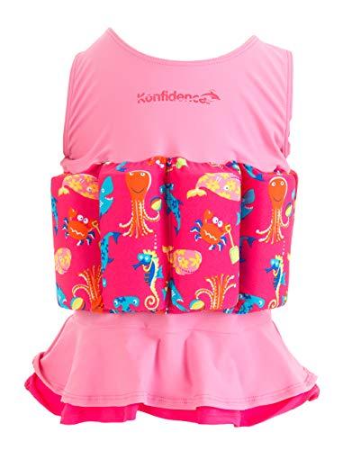 Konfidence - Costume Galleggiante - Rosa - Sea Friends - 1-2 Anni