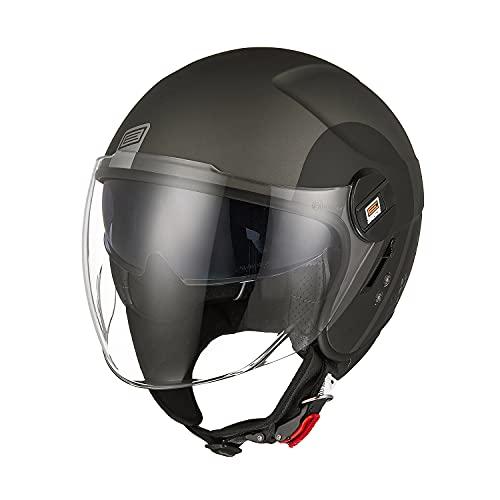 Origine Öffnen 3/4 Motorradhelm Jethelm Scooter-Helm ECE 22-05 Zertifizierung mit Doppelvisier
